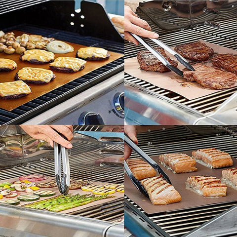 Magic Grill Mat - Non-Stick Reusable BBQ Grill Mats