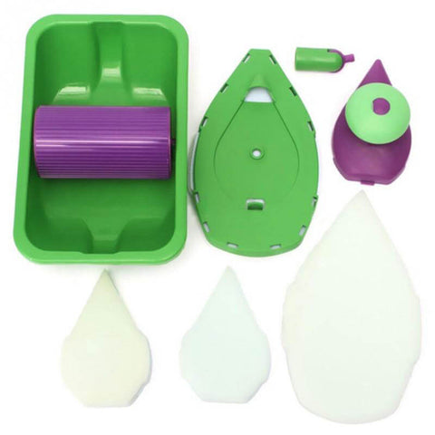 Magic Painting Kit Set - Decorative Paint Roller and Tray Set