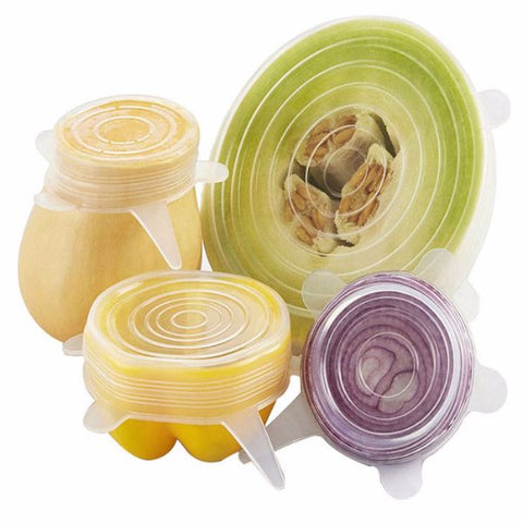 Stretch Lids Silicone Cover - Multi Size Durable Food Grade Airtight Soft Silicone Cover