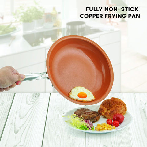 iSlippy Non-stick Copper Frying Frying Pan with 11 inch Cookware Oven & Dishwasher