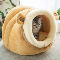 Pet Dog Cat Bed Warm Soft Sleeping Bag Cuddly Cave
