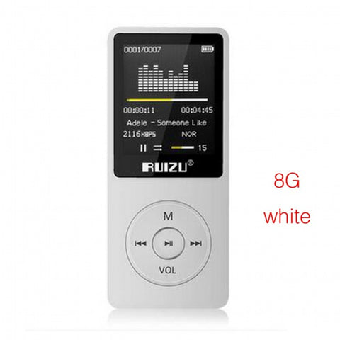 Ultrathin MP3 Player with 8GB storage and 1.8 Inch Screen