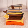 Image of Striped Removable Cover Mat Dog House Beds For For Small & Medium Dogs