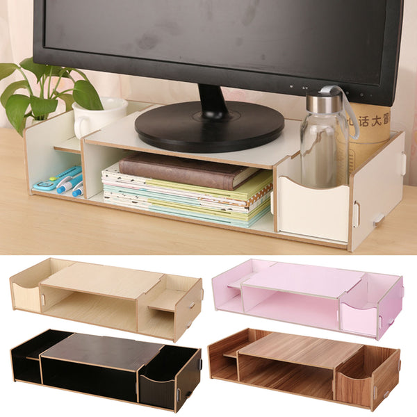 Monitor Stand Riser with Adjustable Storage Organizer