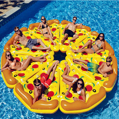 "70"" Water Sports Inflatable Pizza Slice Novelty Swimming Pool Float Raft"