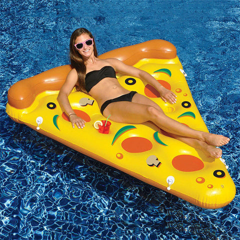 Inflatable Pizza Slice Float Raft with Heavy-Duty High Quality Material