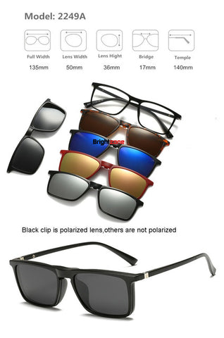 5 in 1 Polarized Sunglasses
