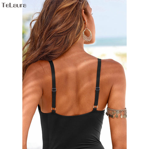 One Piece Women Elegant Inspired Vintage Swimsuit 2018