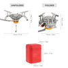 Image of Durable & Portable 3500W Camping Gas stove with Convenient Piezo Ignition