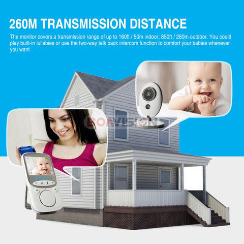 Baby Monitor with LCD Display & Two Way Talk Back