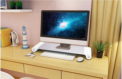 Aluminum Alloy Monitor Stand Riser Organizer with 4 USB Ports
