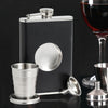 Image of Shot Flask Pro - Stainless Steel with Premium Bonded Leather Wrapping