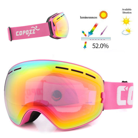 Snow Goggles for Men Women with Spherical Detachable Lens