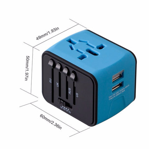Travel Adapter Pro - All-in-one Universal Travel Adapter with Dual USB Port