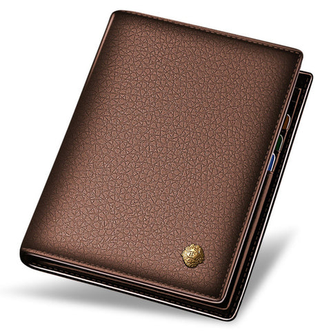 Laorentou Men Wallet Genuine Leather Casual Wallet for Men