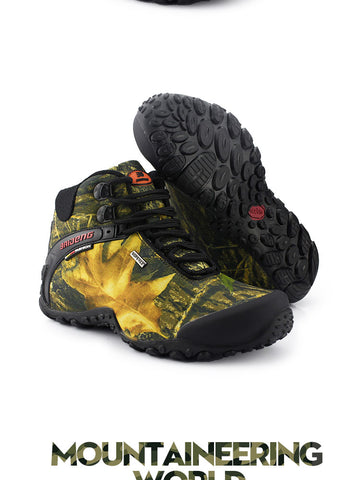 New Waterproof Anti-skid Canvas Hiking Shoes
