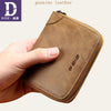 Image of Men's RFID Blocking Leather Zipper Around Wallet Travel ID Card Window Bifold