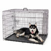 Image of Foldable Iron Crate Double-Door Pet Kennel