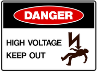 DANGER High voltage keep out with symbol