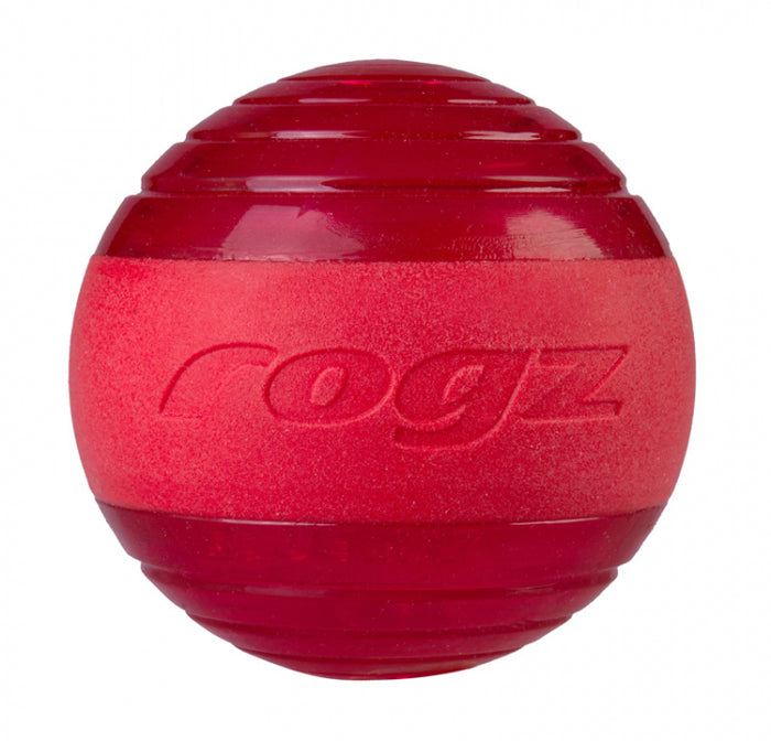 Rogz Ball Squeekz Red