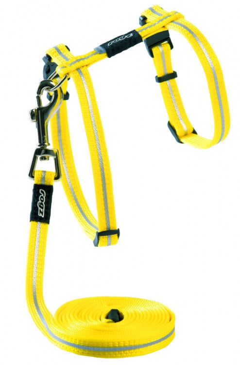 Rogz Harness And Lead Alleycat Dayglo