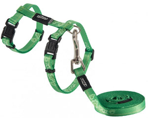Rogz Harness And Lead Kiddycat Lime Paw