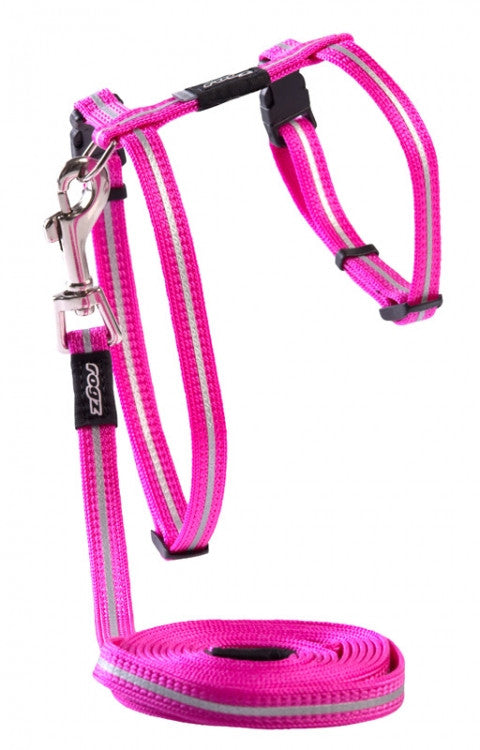 Rogz Harness And Lead Alleycat Pink