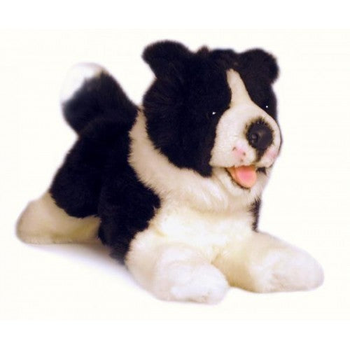 Bocchetta Patch Border Collie Lying Plush Toy