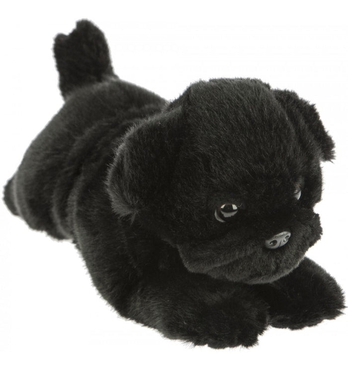 Bocchetta Puddles Black Pug Lying Plush Toy