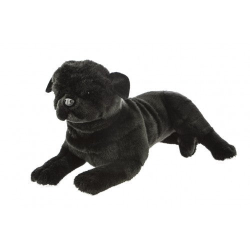 Bocchetta Bandit Black Pug Lying Plush Toy