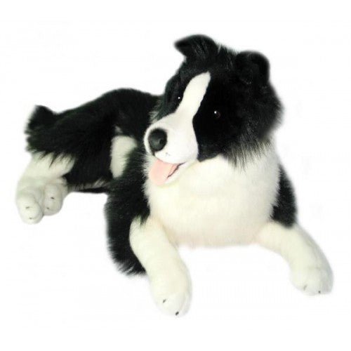 Bocchetta Oscar Border Collie Lying Plush Toy