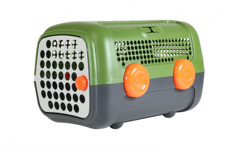 United Pet A.U.T.O Pet Carrier Green And Grey