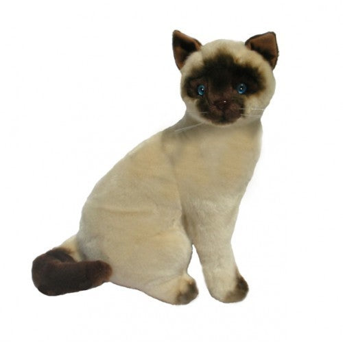 Bocchetta Tulip Siamese Cat Sitting Plush Toy