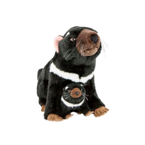 Bocchetta Ebony Tasmanian Devil With Joey Plush Toy