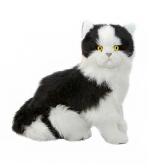 Bocchetta Angus Black & White Cat Sitting Plush Toy