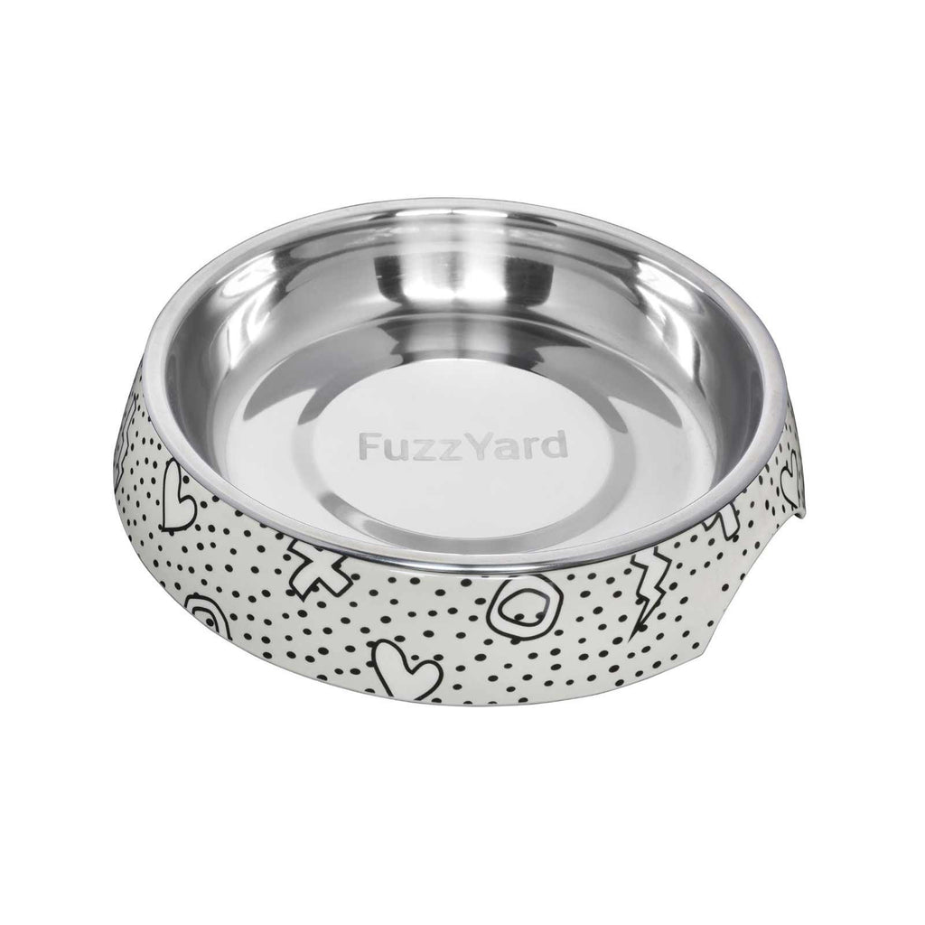 Fuzzyard Cat Bowl Kaos Black And White
