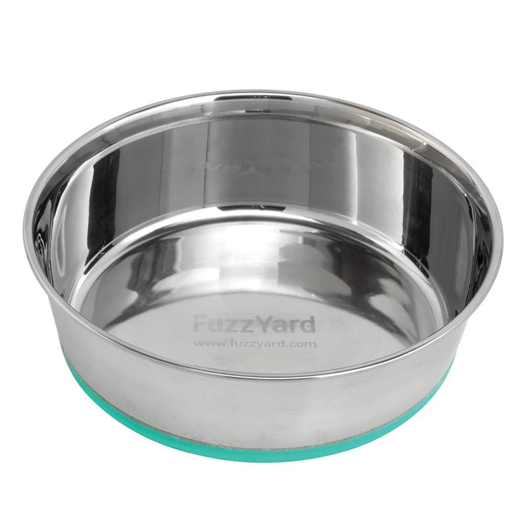 Fuzzyard Stainless Steel Bowl Green Silicone Base