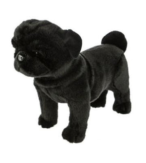 Bocchetta Midnight Black Pug Standing Plush Toy