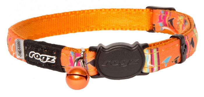 Rogz Collar Safeloc Neocat Orange Candy