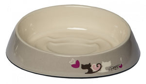 Rogz Fishcake Cat Bowl Grey Heart