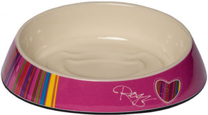 Rogz Fishcake Cat Bowl Pink Candy