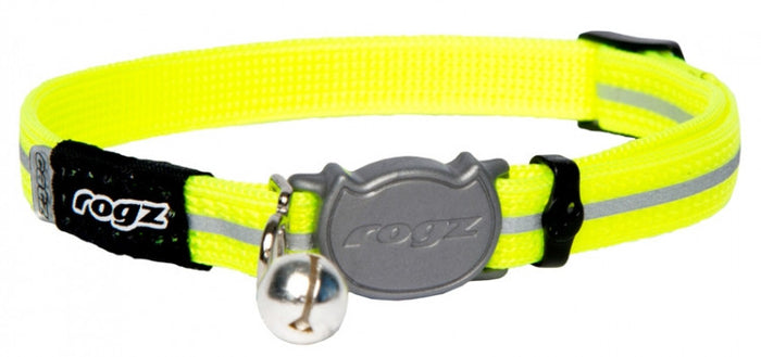 Rogz Collar Safeloc Alleycat Dayglow