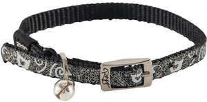 Rogz Collar Pin Buckle Sparkletcat Black