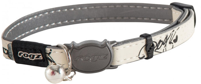Rogz Collar Safeloc Glowcat Black Jumpin