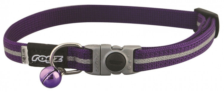 Rogz Collar Safeloc Alleycat Purple
