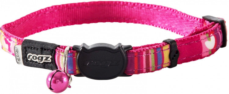 Rogz Collar Safeloc Neocat Pink Candy