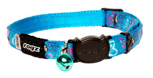 Rogz Collar Safeloc Neocat Turquoise Candy