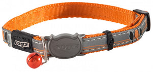 Rogz Collar Safeloc Nightcat Orange Bird