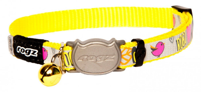 Rogz Collar Safeloc Reflectocat Dayglow