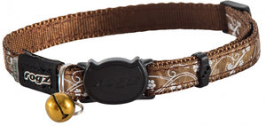 Rogz Collar Safeloc Silkycat Bronze